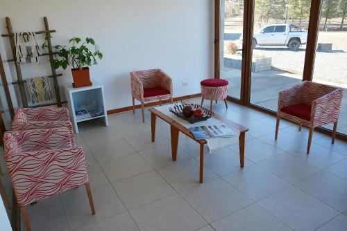 A seating area at Hosteria Varvarco