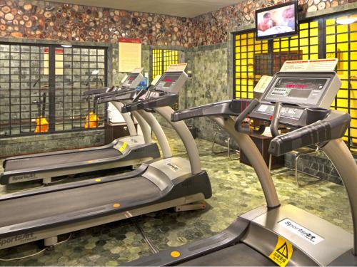 The fitness center and/or fitness facilities at Osotto Recreation Hotel Baiyun