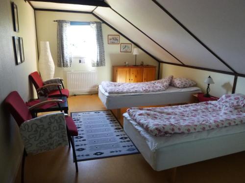 Säng eller sängar i ett rum på Johannisdals Cafe and B&B