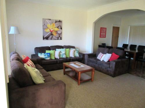 A seating area at River House Mudgee