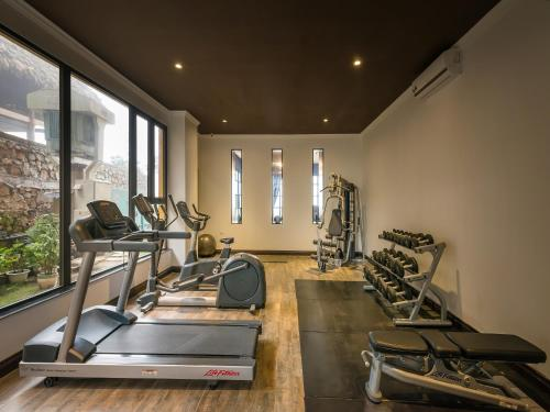 The fitness center and/or fitness facilities at Aira Boutique Sapa Hotel & Spa