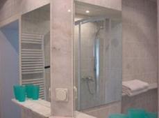 Ein Badezimmer in der Unterkunft Landhaus Siebe