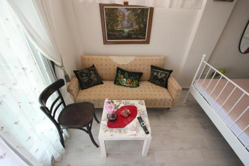 A seating area at Angels Home