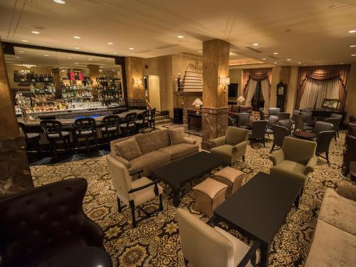 The lounge or bar area at The Pfister Hotel