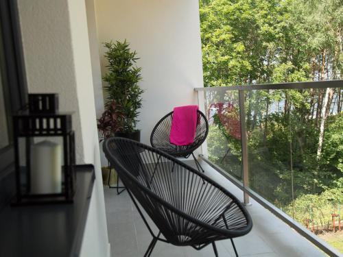 Balkon lub taras w obiekcie Apartament 59 Dwie Sosny