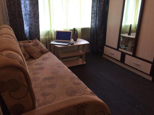 Гостиная зона в 1-room Apartment near Kristal