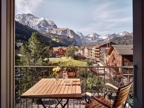 A balcony or terrace at Hotel Schönegg