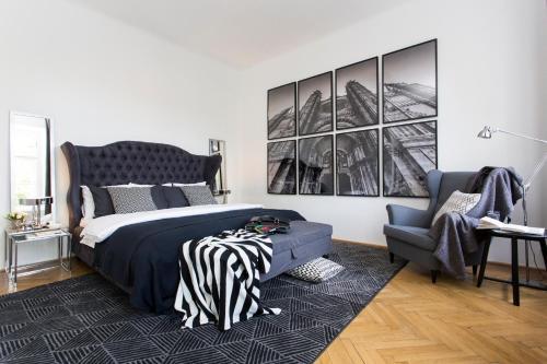 Un ou plusieurs lits dans un hébergement de l'établissement Residence Charles Bridge