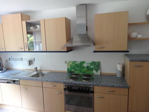 Een keuken of kitchenette bij Stadt und Wald