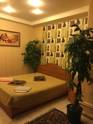 Кровать или кровати в номере Отель Кристина
