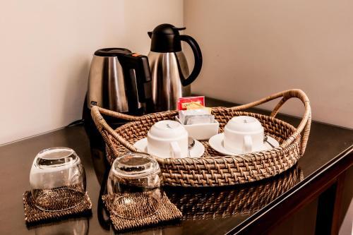 Coffee and tea-making facilities at Casa Kalaw
