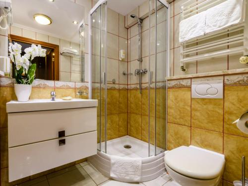 Łazienka w obiekcie Hotel Boss