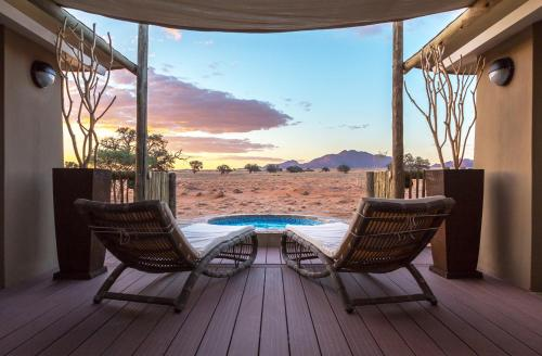 The swimming pool at or close to Sossusvlei Lodge