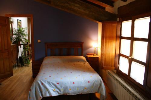Cama o camas de una habitación en Casa Rural Ugarte Ojacastro