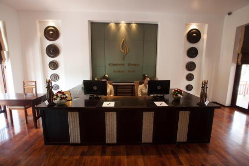 The lobby or reception area at Green Park Boutique Hotel