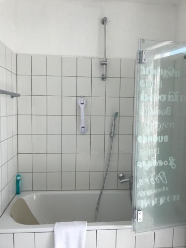 Ein Badezimmer in der Unterkunft Hotel-Restaurant Heute