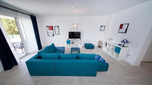A seating area at Apartments Tamburini