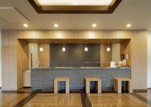 The lobby or reception area at Hotel Route-Inn Ube