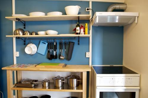 A kitchen or kitchenette at Akureyri Backpackers