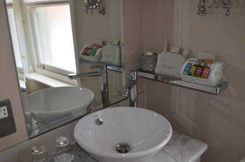A bathroom at Castle House Hotel