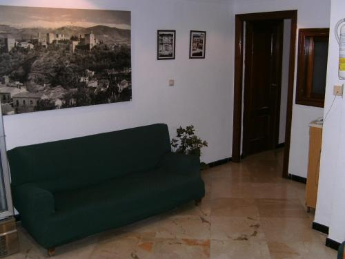 A seating area at Hostal Alicante