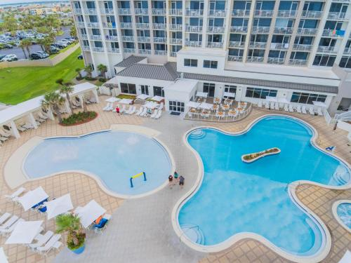 A view of the pool at Hilton Pensacola Beach or nearby