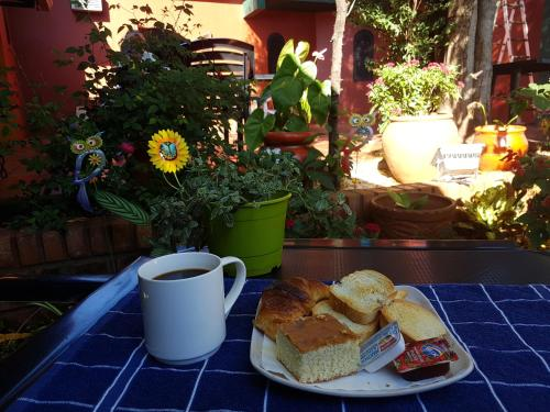 Breakfast options available to guests at Hostel Iguazu Falls
