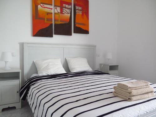 A bed or beds in a room at Casa Mi Lanzarote