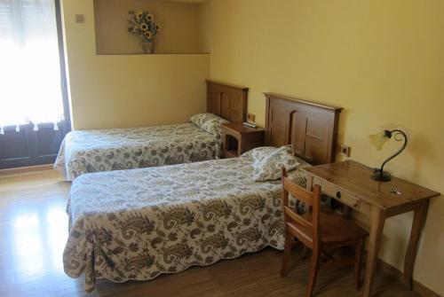Cama o camas de una habitación en Agroturismo Abaienea