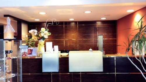 A bathroom at Hotel Maxim