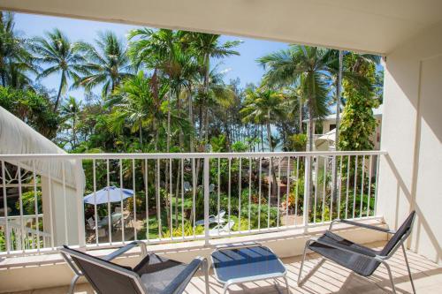A balcony or terrace at Melaleuca Resort