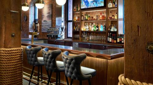 The lounge or bar area at Argonaut Hotel, a Noble House Hotel