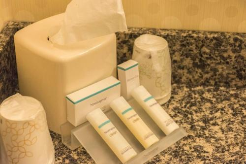 A bathroom at Hilton Garden Inn Bangor