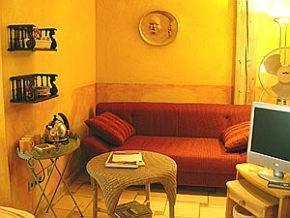 Ein Sitzbereich in der Unterkunft Haus Silbermond