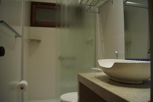 Um banheiro em Pousada Paisagem
