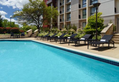 The swimming pool at or near Marriott at the University of Dayton