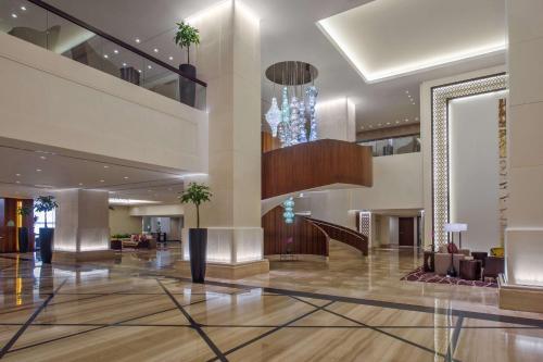 The lobby or reception area at Jabal Omar Hyatt Regency Makkah