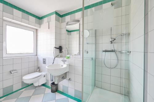 A bathroom at Hotel Amadeus
