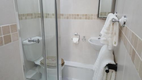A bathroom at 1 bed self catering apartment