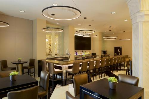 A restaurant or other place to eat at Hilton Grand Vacations Suites on the Las Vegas Strip