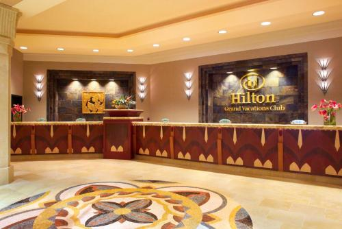 The lobby or reception area at Hilton Grand Vacations Suites on the Las Vegas Strip