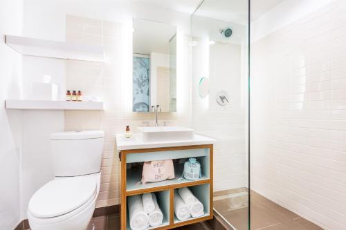 A bathroom at The Verb Hotel
