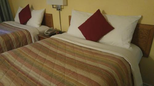 A bed or beds in a room at Robber's Roost Motel