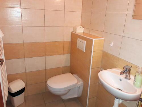 Ванная комната в Restaurace a penzion Legendario