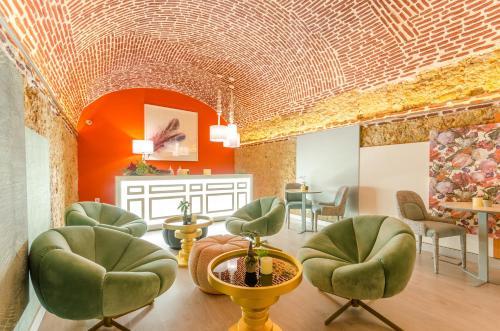 Zona de estar de Hotel Borges Chiado