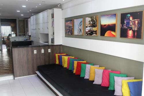 The lounge or bar area at Albergaria Hostel