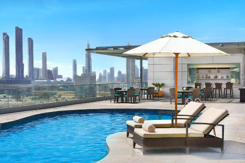The swimming pool at or near The Ritz-Carlton Executive Residences