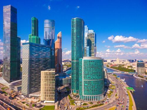 Новотель Москва Сити с высоты птичьего полета