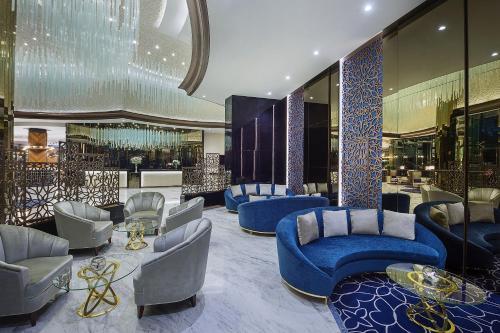 The lounge or bar area at DAMAC Maison Distinction