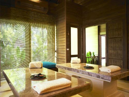 A bathroom at Six Senses Yao Noi